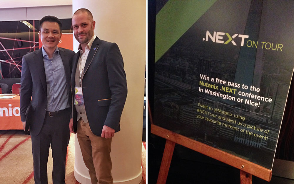 Howard Ting, CMO, Nutanix with Martin Lulham, MD, M-Tech Systems