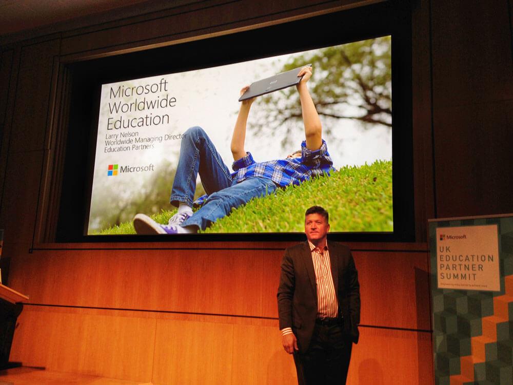 Microsoft Education Summit Larry Nelson
