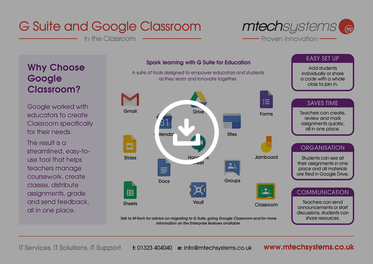 G Suite and Google Classroom