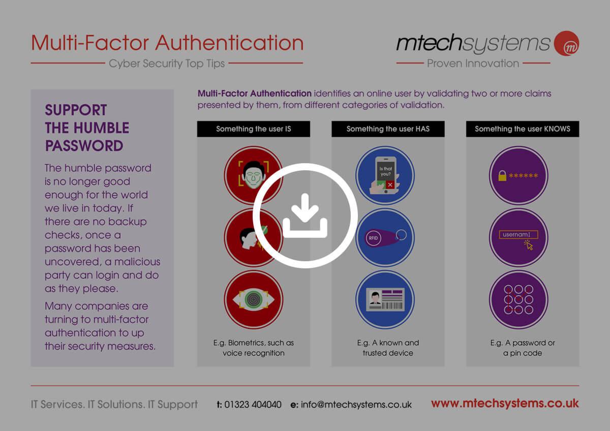 M-Tech Multi-Factor Authentication Poster