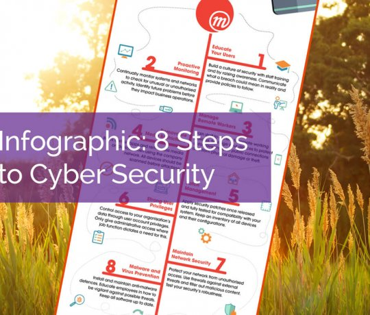 Infographic - 8 Steps to Cyber Security